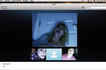 Screenshot of horror film, 'Unfriended'