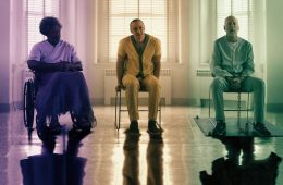 Image from Glass - Samuel L Jackon, James McAvoy and Bruce Willis