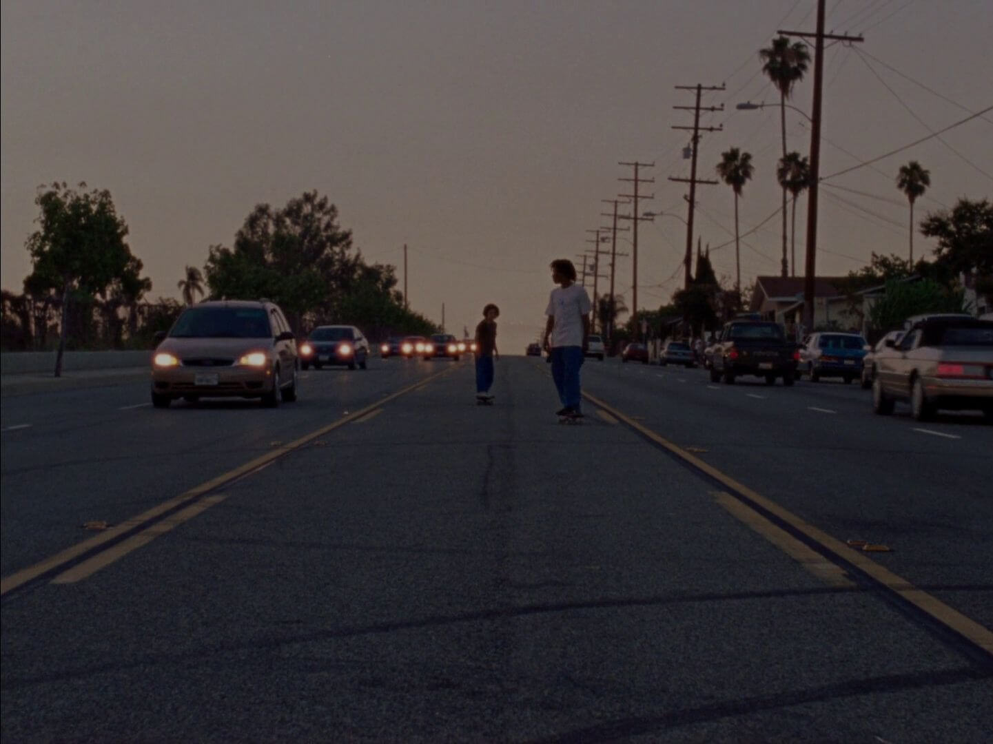 Still from Mid90s - road
