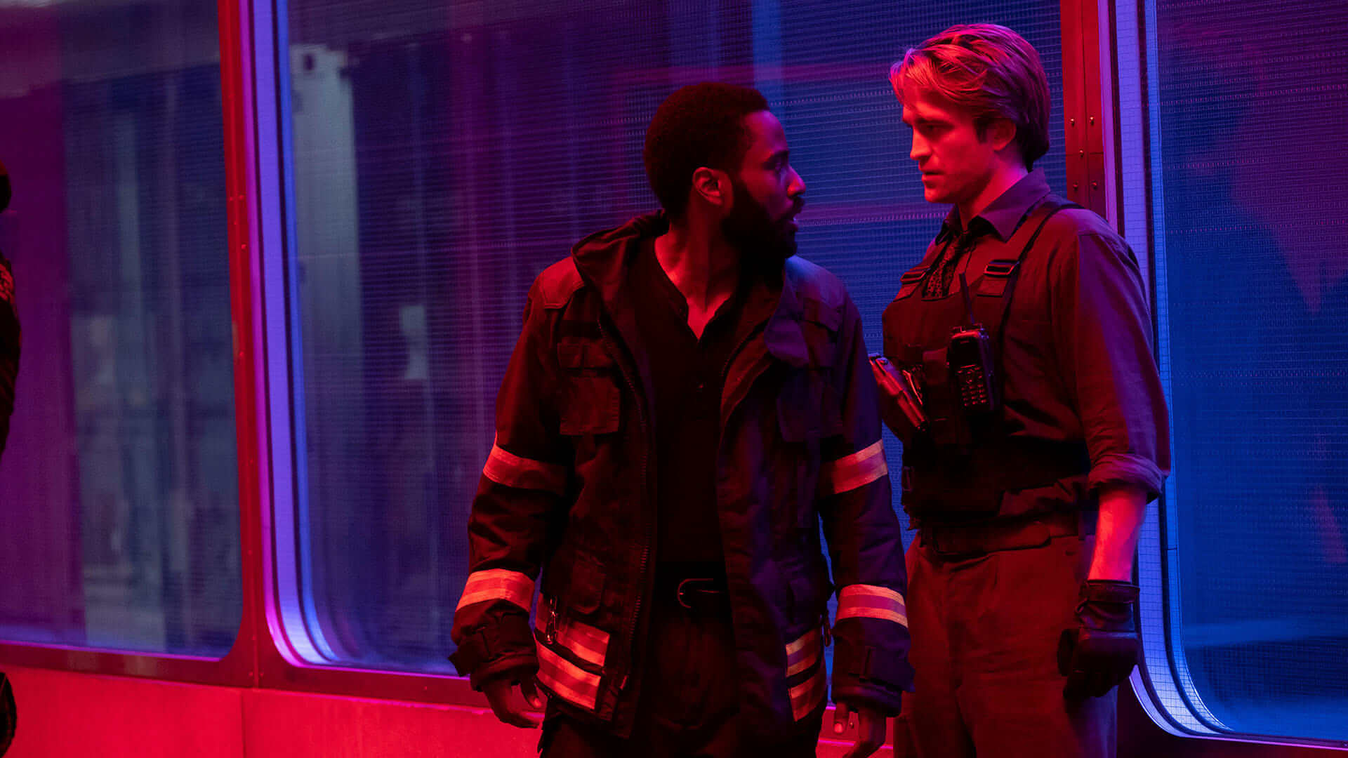 Tenet (2020) Still of John David Washington and Robert Pattinson