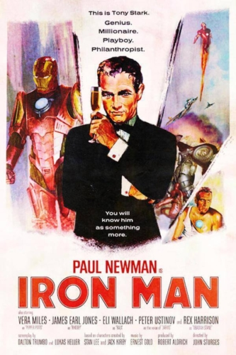 Paul Newman, Iron Man (2008) - Modern Films Re-Imagined into Classic Posters