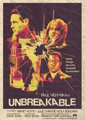 Unbreakable (2000), Paul Newman, Francis Ford Coppola - Modern Films Re-Imagined into Classic Posters