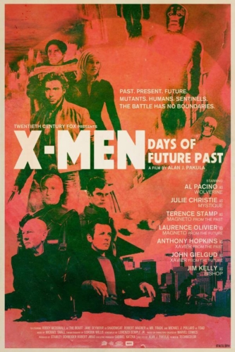 X-Men Days of Future Past (2014), Al Pacino, Anthony Hopkins - Modern Films Re-Imagined into Classic Posters